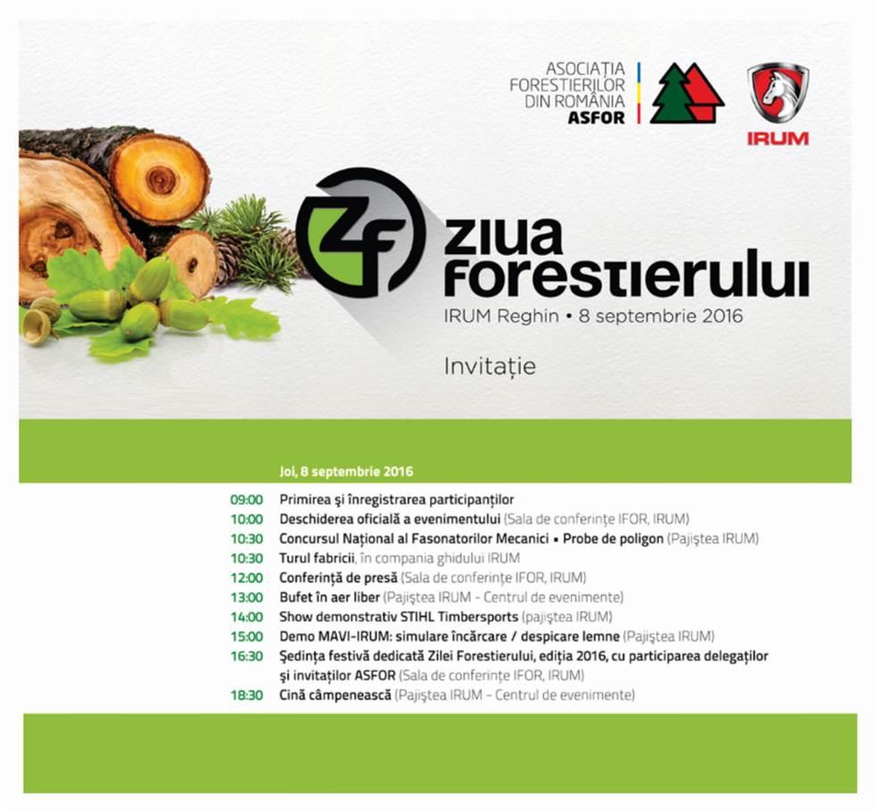 IRUM organizează Ziua Forestierului