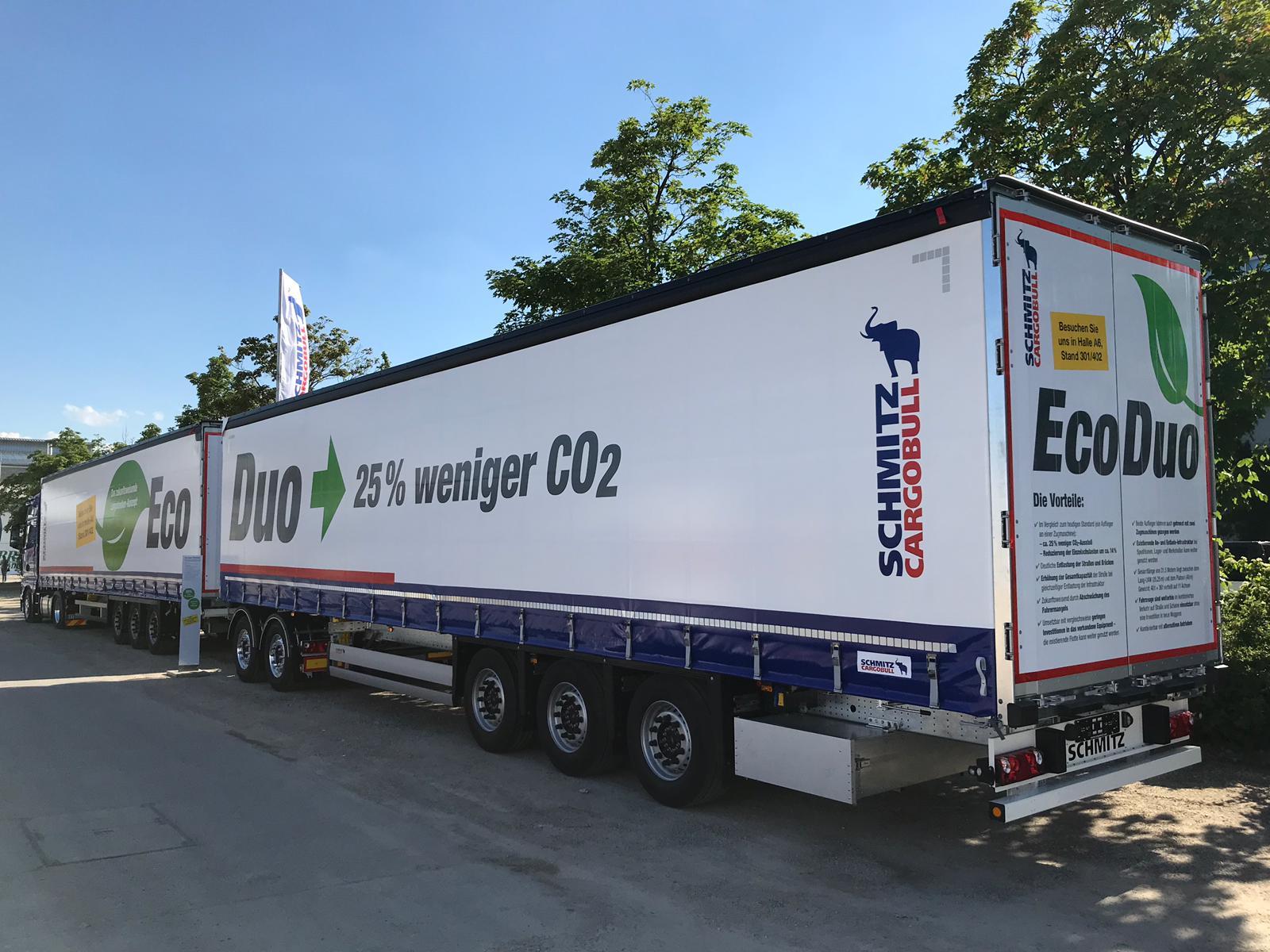 Conceptul de transport EcoDuo de la Schmitz Cargobull