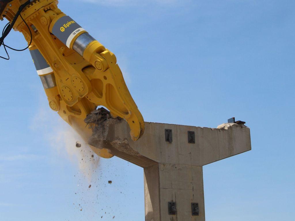 Noua foarfecă de beton CB Concrete Busters pentru fundații și construcții înalte