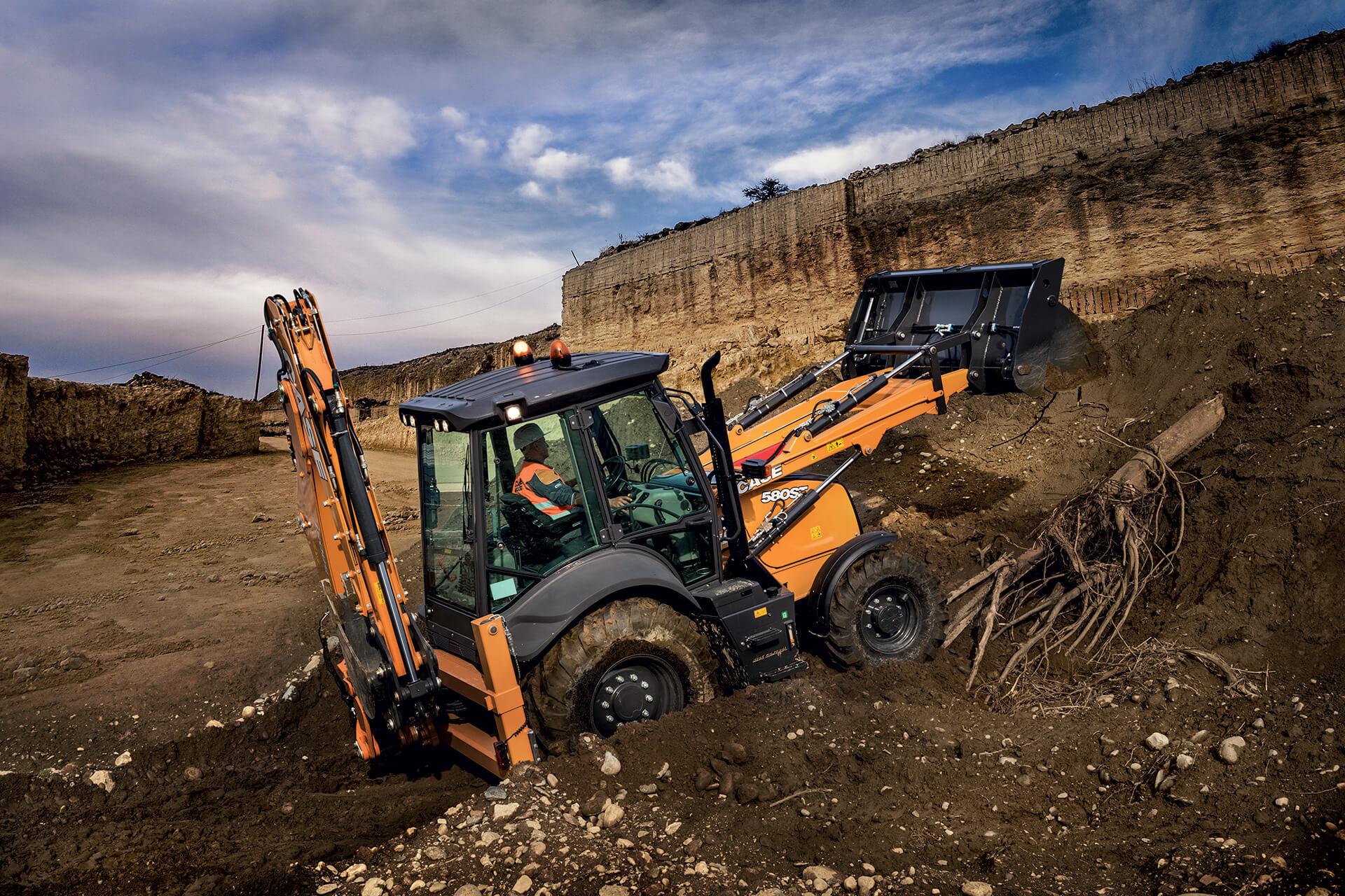 CASE 580 ST – un buldoexcavator cu dedicație