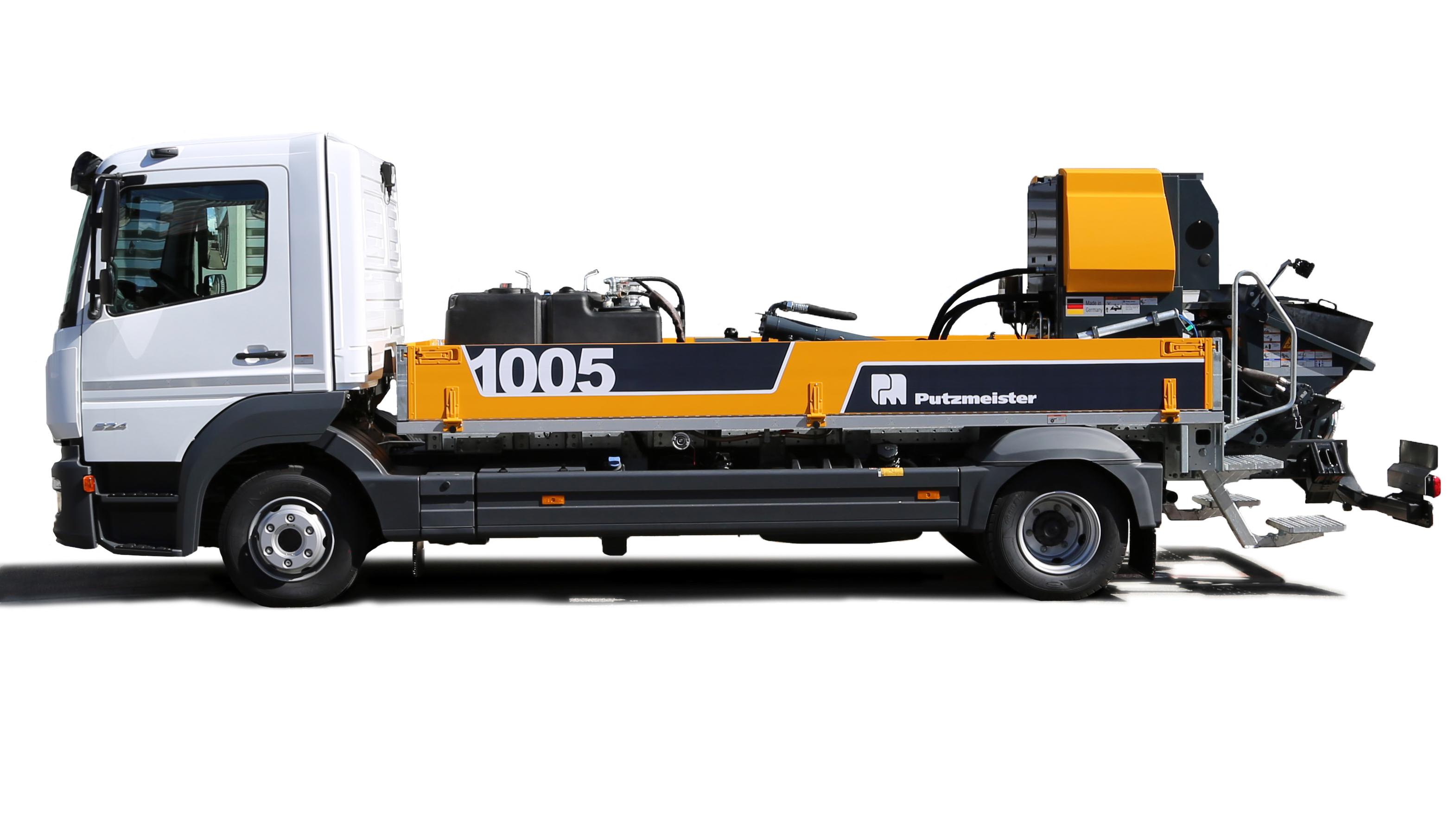 Noua linie de pompe de beton Putzmeister BSF 1005 Moli / BQF 06 Roline
