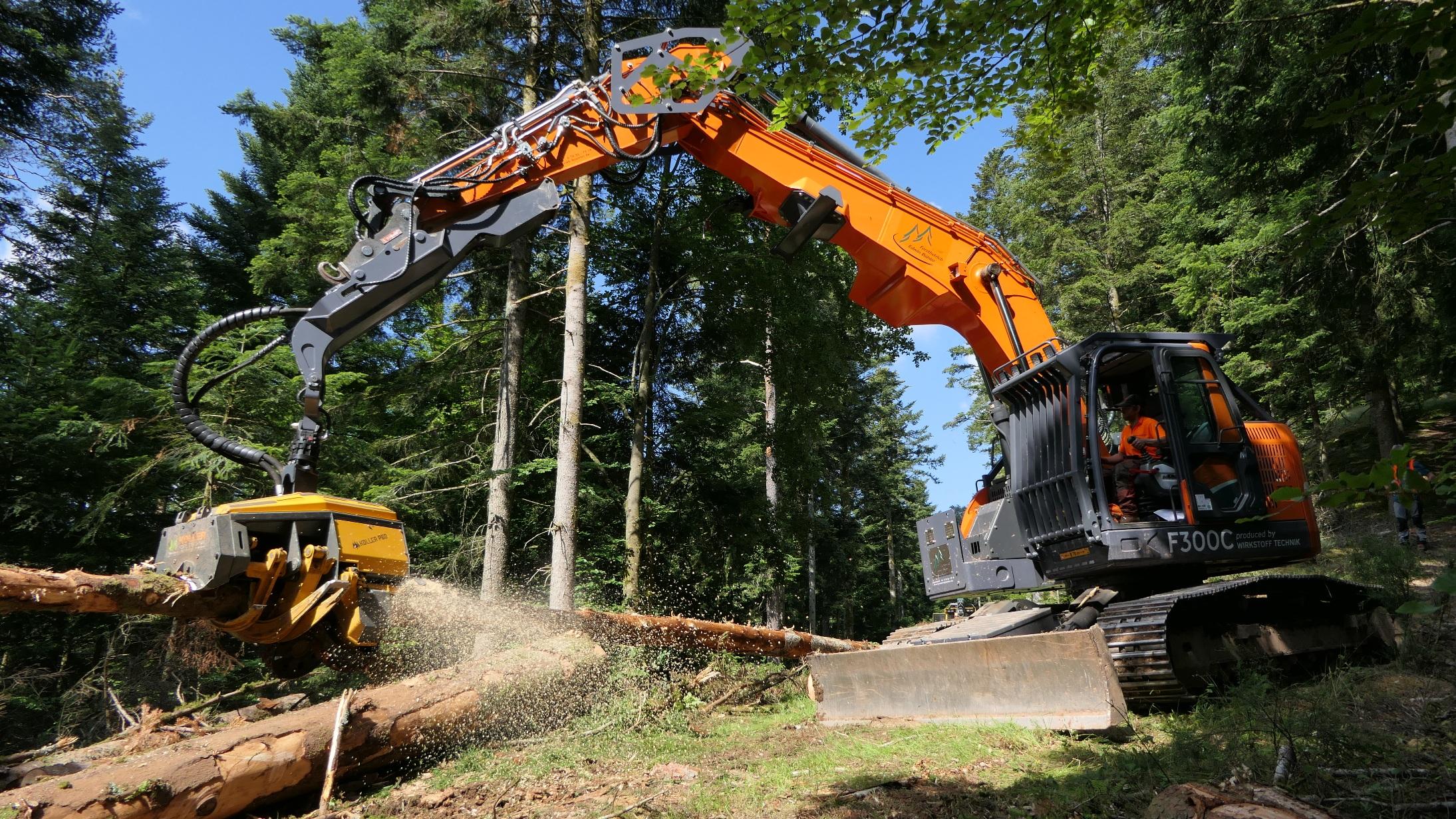 Excavatoarele Doosan, extrem de manevrabil pentru lucrările forestiere