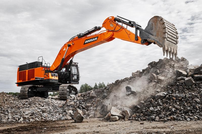 Noul excavator Doosan DX800LC-7