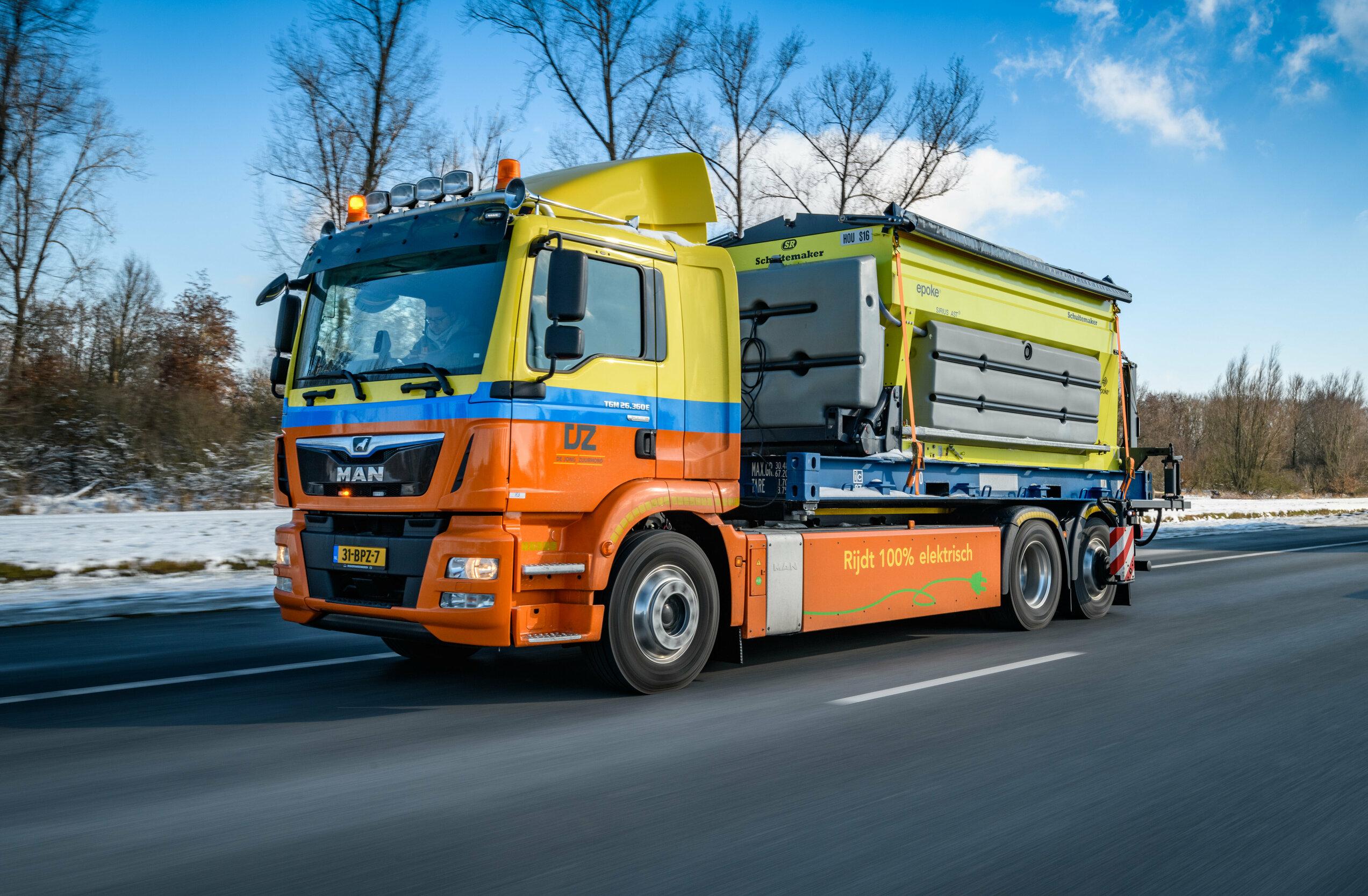 Camionul electric MAN E-TGM învinge iarna