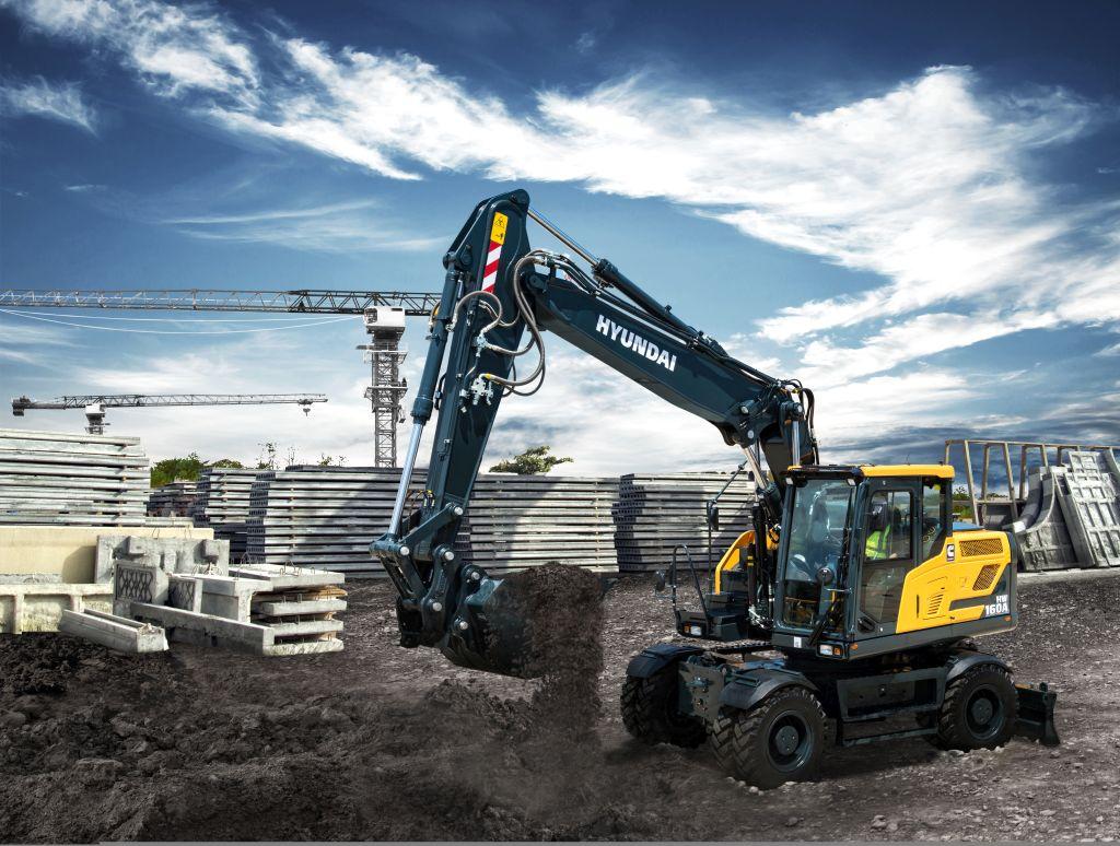 HYUNDAI prezintă noile sale excavatoare pe roți seria A