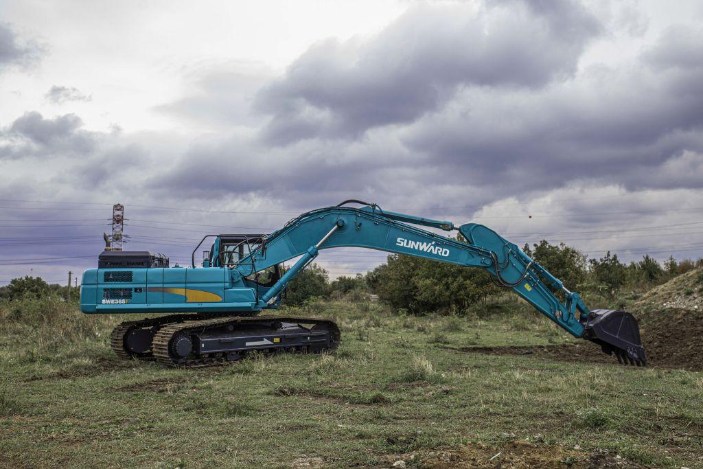 Sunward SWE 365F, un excavator puternic și fiabil, perfect pentru șantierele din România